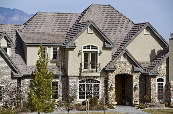 Roof Tiles: Ponderosa Roof Tiles on a House